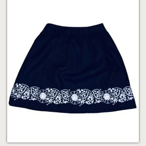 Style & Co Embroidered Flowers Skirt